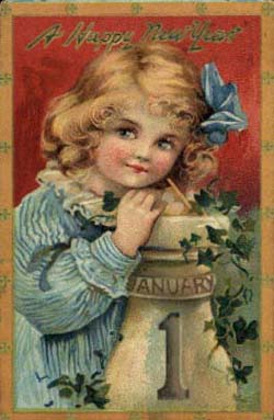 Girl-Vintage-Postcard-New-Year