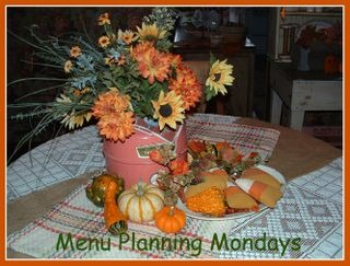 Menu planning autumn